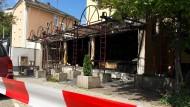Tatort: Die völlig zerstörte Shisha-Bar in Gießen.