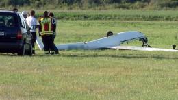 Windenseil zu früh ausgeklinkt: Segelflugzeug abgestürzt