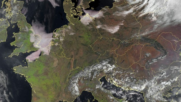 Central Europe on a mostly cloud-free day is seen in a satellite image distributed by EUMETSAT