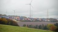 Umstritten: Windräder bei Heidenrod