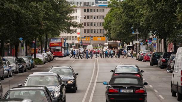 Berliner Straße in Frankfurt bleibt vierspurig