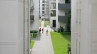 Entwickelt sich zu einem lebendigen Stadtteil Frankfurts: Europaviertel