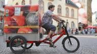 Könnte die Zukunft sein: Lastenräder für Güter und Wiesbaden als Vorreiter für eine vernetzte Region.