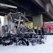 Todesfalle: In diesem Wrack verbrannte der Fahrer nahe Ginsheim-Gustavsburg