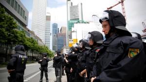 Politischer Streit nach Blockupy-Demo