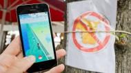 Vorbild auch für Steinau? In Niedersachsen hat ein Gastronom ein Verbotsschild aufgehängt, nachdem Pokémon-Trainer seinen Stand belagerten.