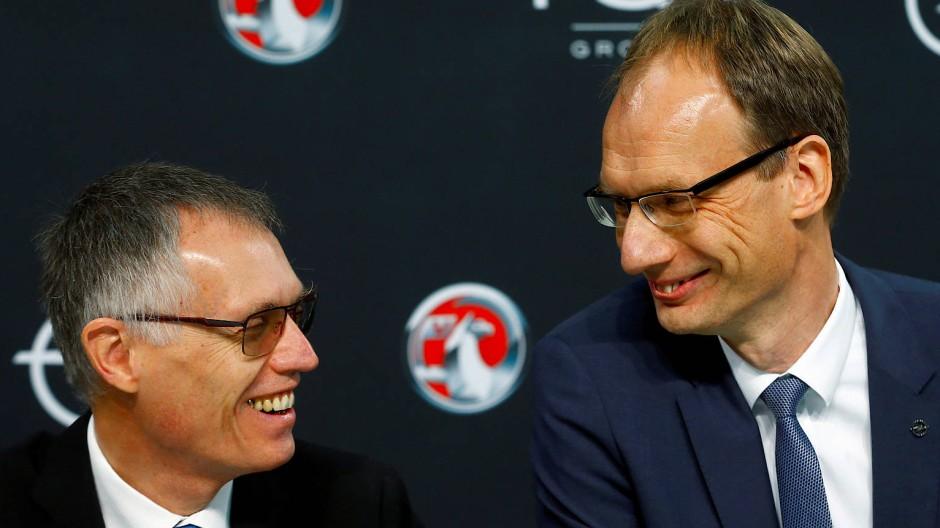 Optimierer unter sich: PSA-Chef Tavares (links) und Opel-Chef Lohscheller