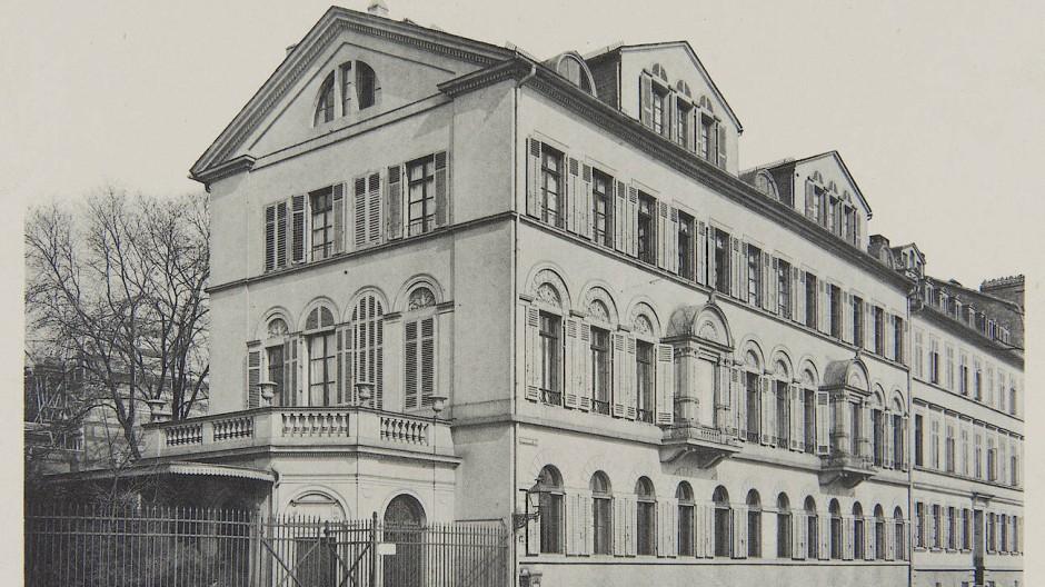 Das ehemalige Rothschild-Palais am Untermainkai 14–15, um 1890