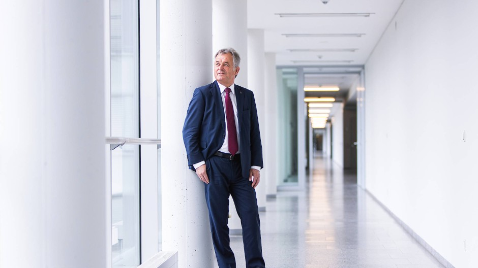 Will etwas verändern: Polizeipräsident Gerhard Bereswill im Frankfurter Polizeipräsidium