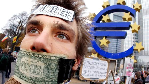 Stadt Frankfurt errichtet Schutzzone um Europäische Zentralbank