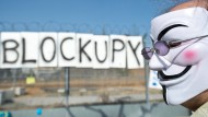 """""""Beim Umzug helfen"""": Das Blockupy-Bündnis will am Samstag vor der neuen EZB in Frankfurt demonstrieren."""