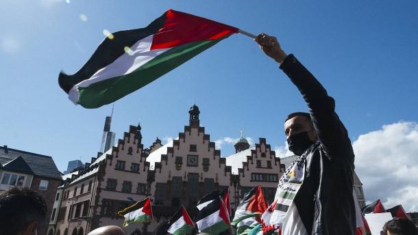 Moderatere Töne bei Protest gegen Israel in Frankfurt