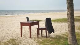 Arbeiten am Strand erlaubt