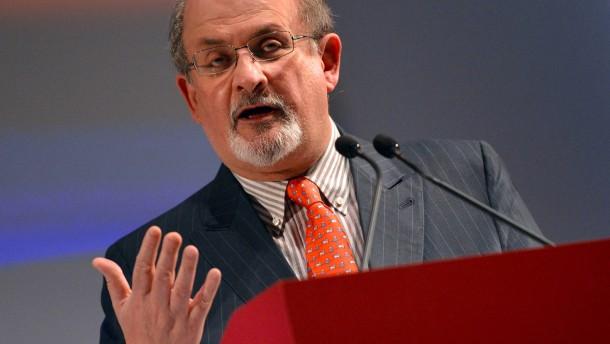Salman Rushdie hält Eröffnungsrede