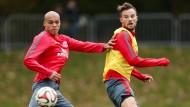 Gegen Hannover vermisst, gegen die Bayern wohl wieder erste Wahl: Bamba Anderson (links) und Haris Seferovic.