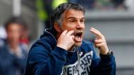 Energiegeladen: Gino Lettieri soll den FSV Frankfurt vor dem Abstie aus der Dritten Liga bewahren