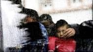 Vor fast einem Jahr kamen diese Flüchtlinge bei strömendem Regen in Darmstadt an.
