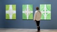 """Ansicht: Die Werke von Claudia Lemke spielen mit der Form von Autobahnkreuzen - zu sehen in """"After Rubens"""""""