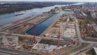 Wird für eine Milliarde Euro umgestaltet: Mainzer Zollhafen