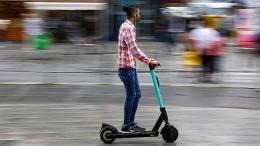 Wenn E-Scooter-Fahrer mit dem Gesicht bremsen