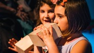 Pustefix: Kinder mit Kazoojón auf der Musikmesse 2015 in Frankfurt