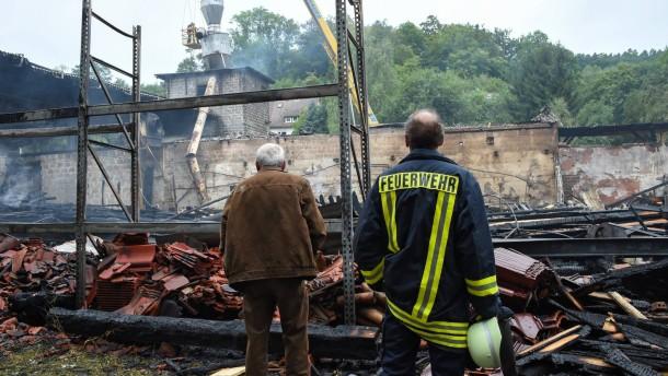Millionenschaden bei Brand in Sägewerk