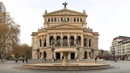 Laufsteg vor der Alten Oper