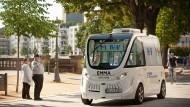 Automobil: Kleinbus Emma in Mainz