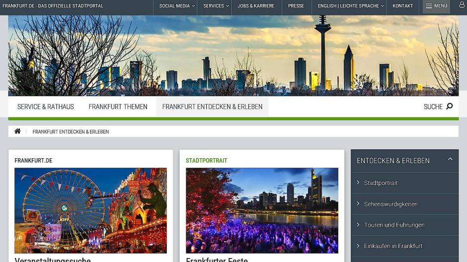Schöner scrollen: So wird der neue Internetauftritt der Stadt Frankfurt aussehen.