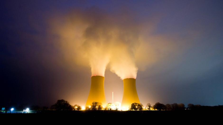 """""""Ja, bitte"""": Das Kernkraftwerk Grohnde in Niedersachsen, das seit 1984 in Betrieb ist."""