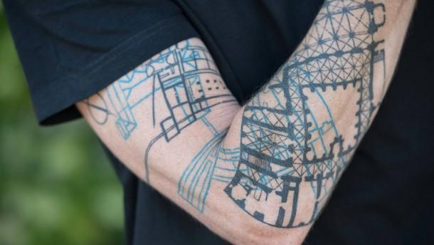 Grundriss von Eberbach auf dem Unterarm