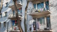 Eine Bleibe, kein Zuhause: Arbeiterwohnheim in Frankfurt-Griesheim.