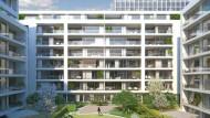Hauptgeschäft: Eine Simulation zeigt einen Wohnungskomplex von Patrizia in Frankfurt.