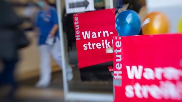 Auch in Hessen Warnstreiks in Krankenhäusern