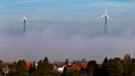An Land die kostengünstigste Energie: Windkraft - diese Windräder stehen im Odenwald
