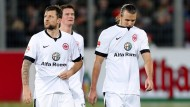 Fehlstart: Marco Russ, Alexander Madlung und Alexander Meier machten schlechte Miene zum schlechten Spiel.