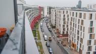 """Mietpreisbremse: """"Wer 20 Euro Miete pro Quadratmeter haben möchte, der bekommt sie auch"""", heißt es etwa in Offenbach - hier ein Foto auf die Hafeninsel"""