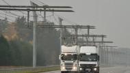 Bald auf der A5 in Südhessen unterwegs: Elektro-Lastzüge