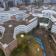 Einst Europas größte Gewerbeimmobilie: Das Lurgi-Haus im Frankfurter Mertonviertel wird abgerissen.