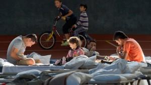 Hoffnung auf leichten Rückgang  der Flüchtlingszahlen