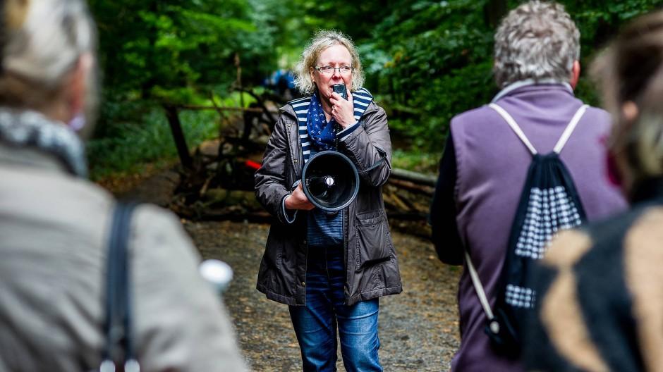 Spruchreif: Barbara Schlemmer fühlt sich verschaukelt von den Grünen, ihrer Partei, im Streit um den Dannenröder Forst