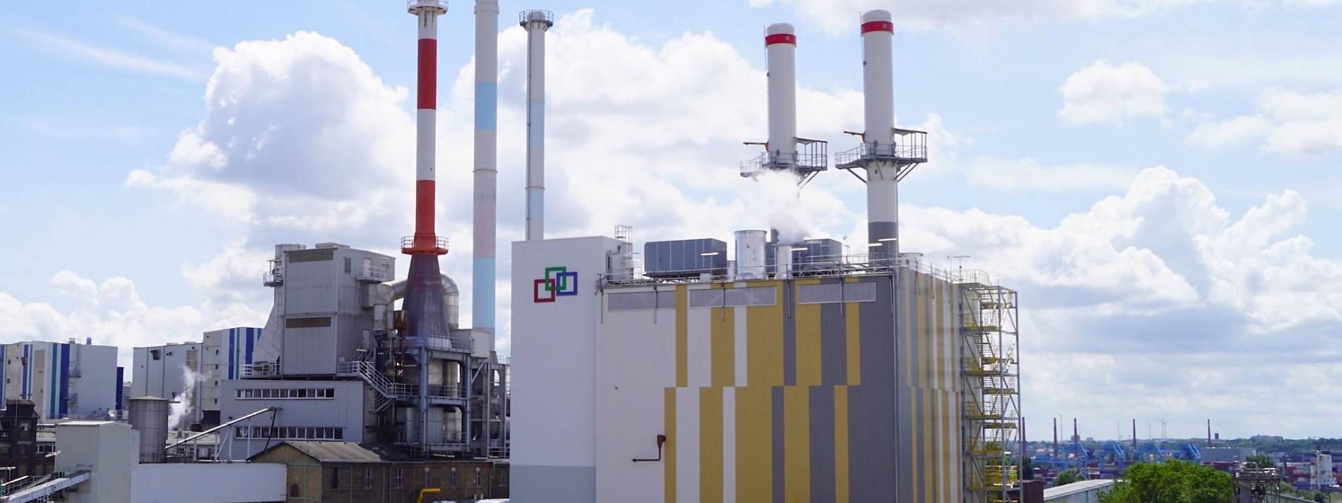 Industriepark bei Strom und Dampf unabhängig