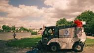 Waghalsige Sprünge für eine saubere Stadt
