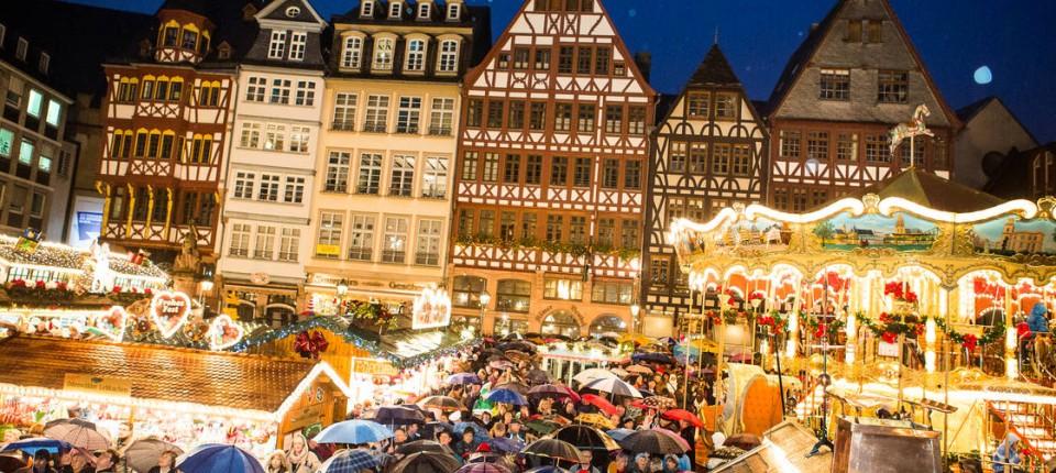 Frankfurter Weihnachtsmarkt.Frankfurter Weihnachtsmarkt Internationaler Besucherrekord Rhein