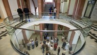 Neu: das restaurierte Treppenhaus im neuen Frankfurter Forschungsinstitut Senckenberg im alten Gebäude der Goethe Universität