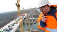 Neubau der Lahntalbrücke bei Limburg gut im Plan