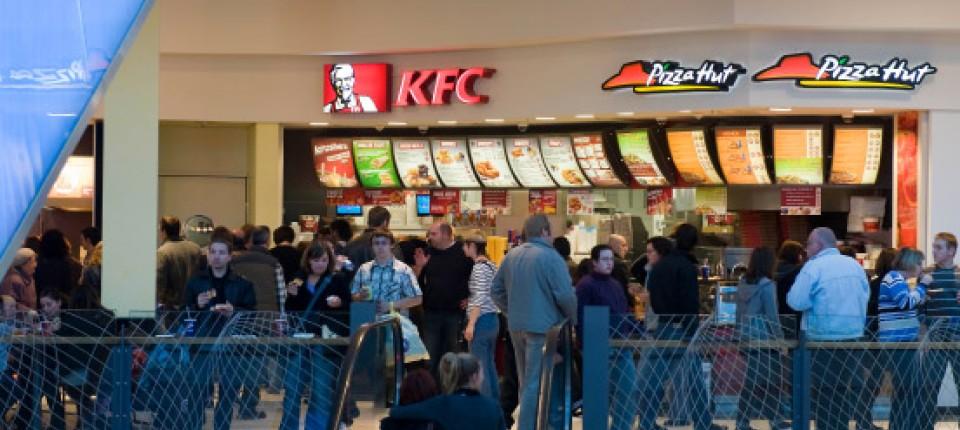 Fast Food Ketten Chicken Wings Verfolgen Die Hamburger Wirtschaft
