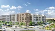 In den vergangenen Jahren tendiert die Zahl der Baugenehmigungen in Frankfurt nach oben. Viele Wohnungen sind wie das abgebildete Bauvorhaben auf dem Riedberg entstanden.