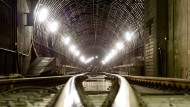 Hier rannte ein Nackter durch: Frankfurter S-Bahn-Tunnel