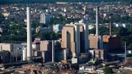 Wird noch gebraucht: Heizwerk West in Frankfurt, betrieben mit Kohle